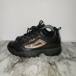Fila Disruptor 2 Casual Sneakers Black Rose Gold